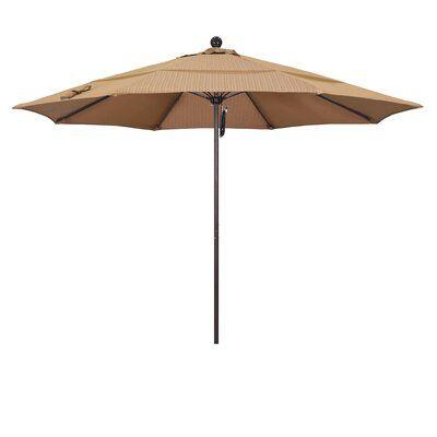 California Umbrella Venture Series 11 Market Umbrella Frame Color: Bronze, Fabric: Olefin-Terrace Sequoia