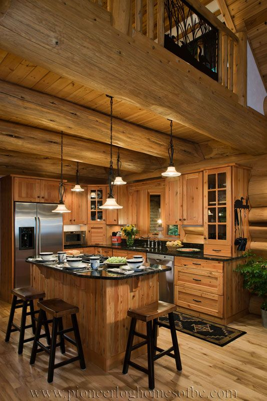 Log Homes Kitchen & Dining Image Gallery | BC, Canada