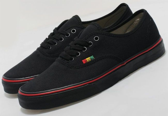7c026ec65f Black Vans Authentic Hemp