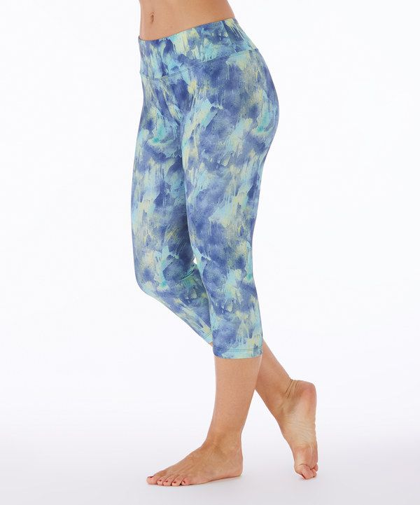 9f63f6a92e772 Look at this Green Glow Nebula Abstract Capri Leggings on #zulily today!