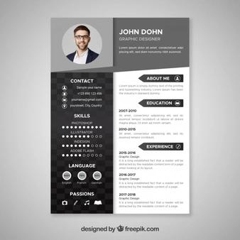 1 010 Elegant Resume Images Free Download Cv Kreatif Desain Cv Pendidikan