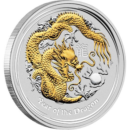 2012 YEAR OF THE DRAGON PROOF 1oz Silver Proof Coin