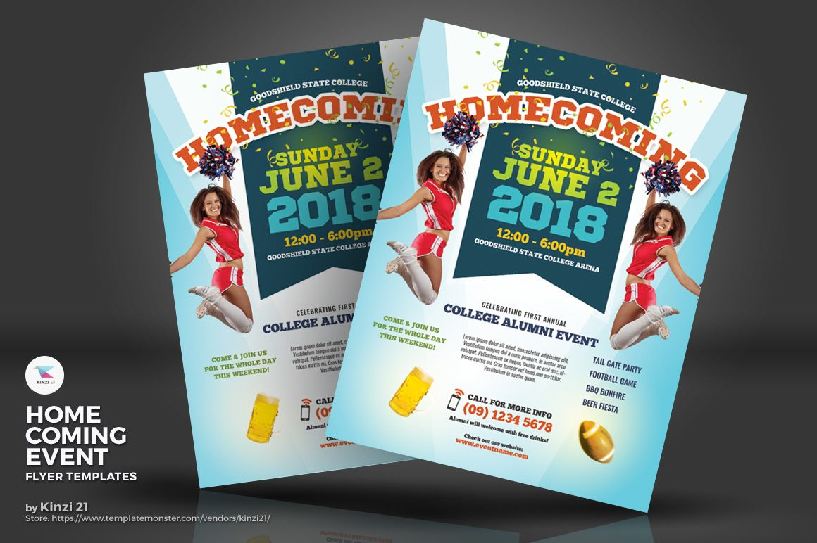 Homecoming Event Flyers Corporate Identity Template Event Flyer Templates Flyer Template Event Flyer