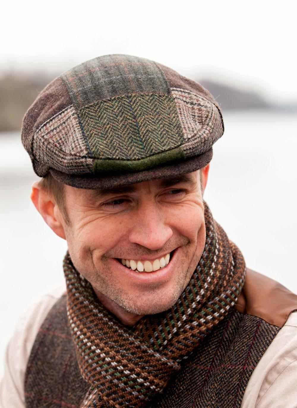 31c8d2fa Mucros Patch cap, alpaca scarf, wool vest - like it all together Blarney.com