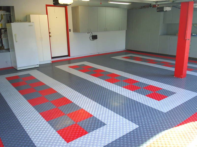 Beautiful garage interiors beautiful garage floor tiles for Cool floor tile designs