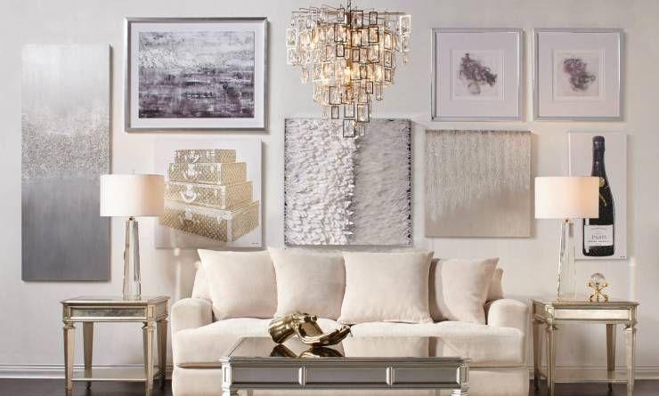 Shop Glitter Art White Living Room Decor Home Decor Affordable