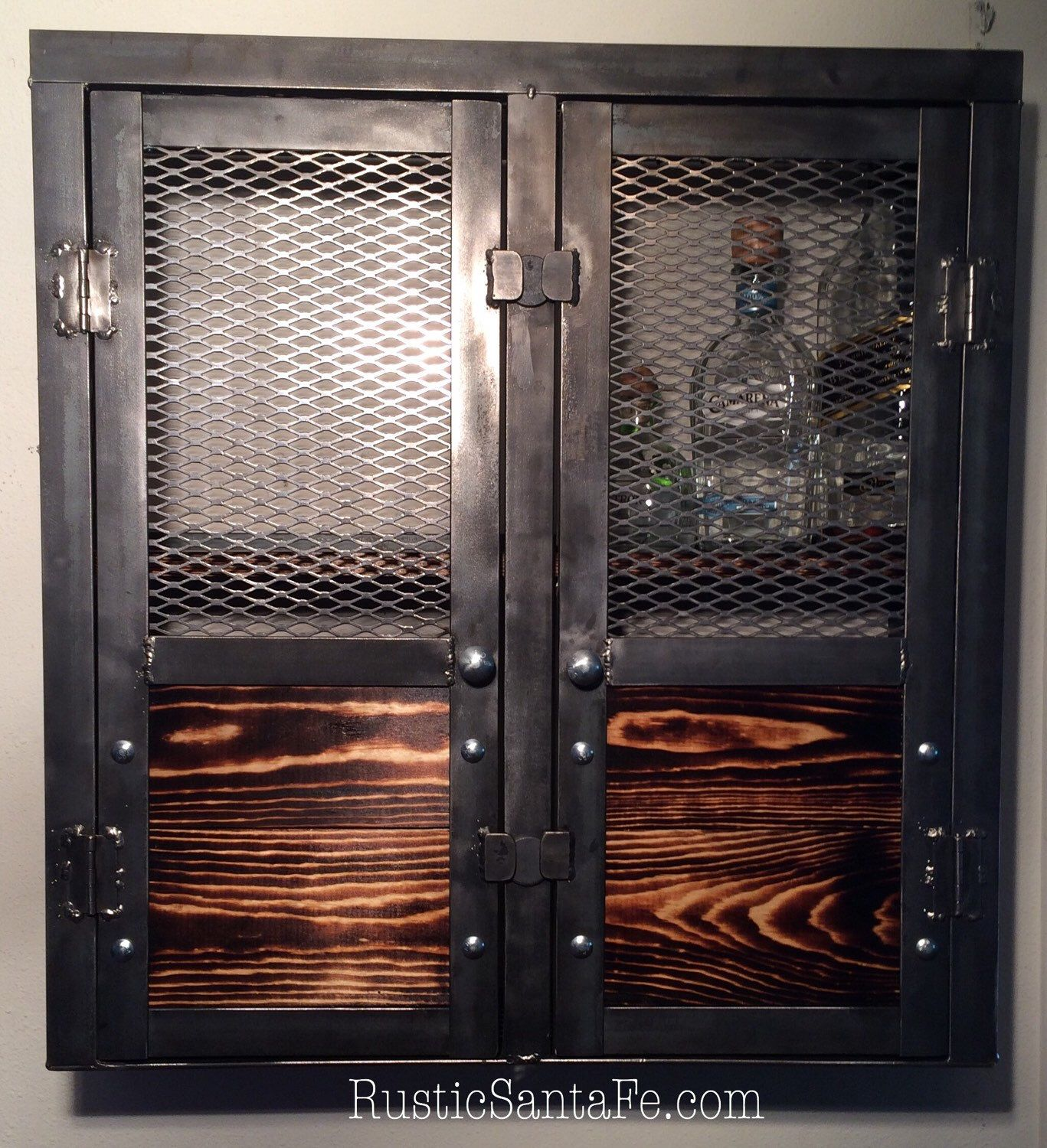Beautiful Liquor Cabinet, Wine Rack, Rustic Cabinet, Industrial Liquor Cabinet, Wall  Cabinet We Can Do Any Size, Or With Barnwood. By RusticSantaFe On Etsy ...