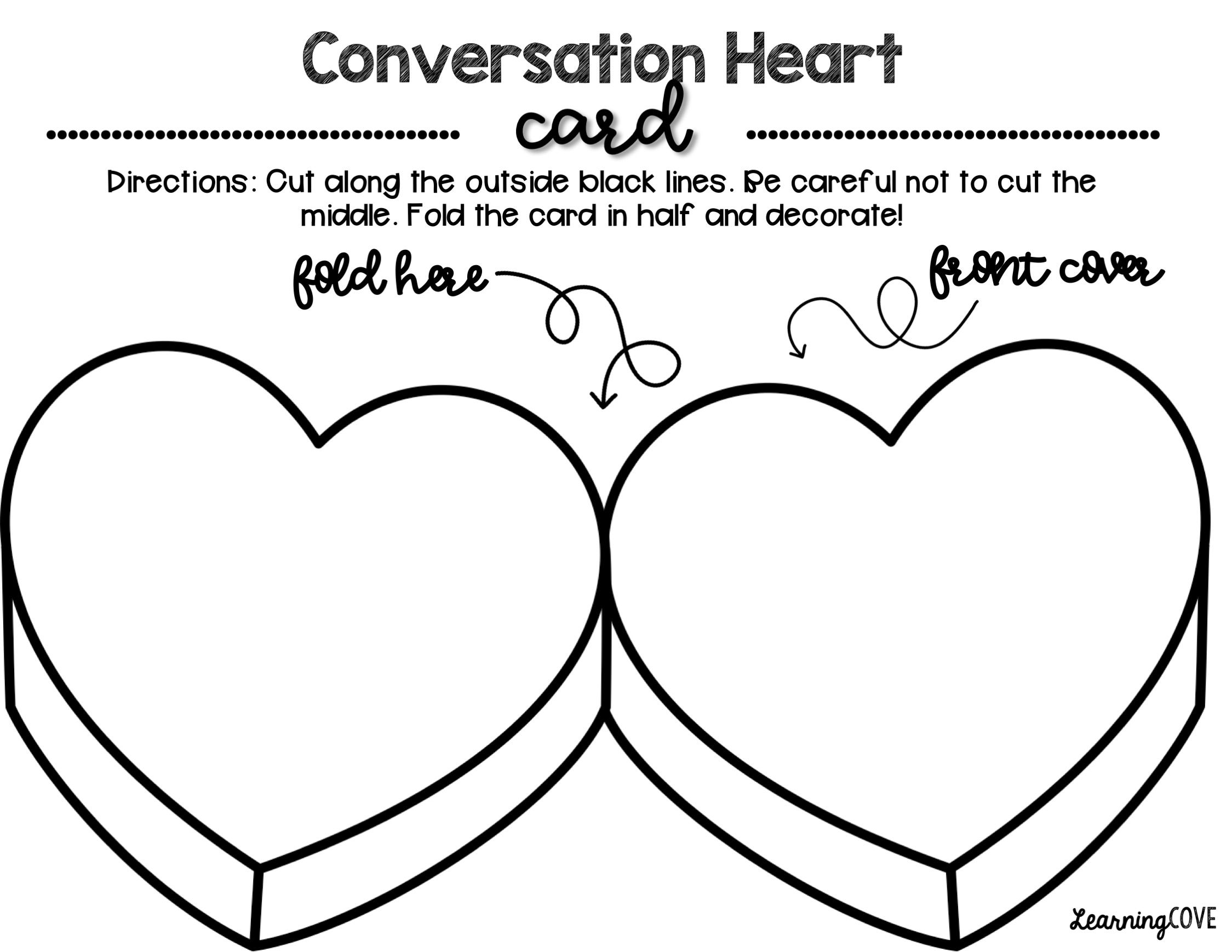Conversation Hearts, Valentine's Day and Kindness Activity