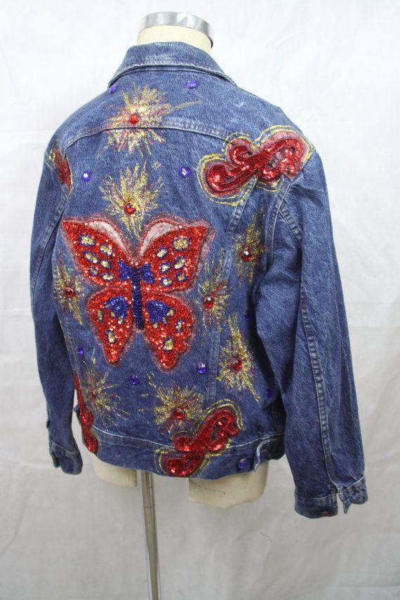 Embellished Lee Denim Jacket This is an amazing denim jacket. A staple of  80s   8efe8626f5316