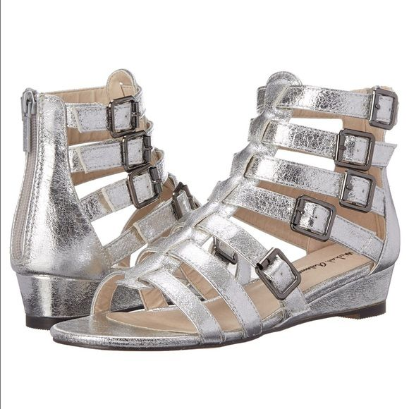 5abae155ff52 Michael Antonio Silver Gladiator Sandals Brand new