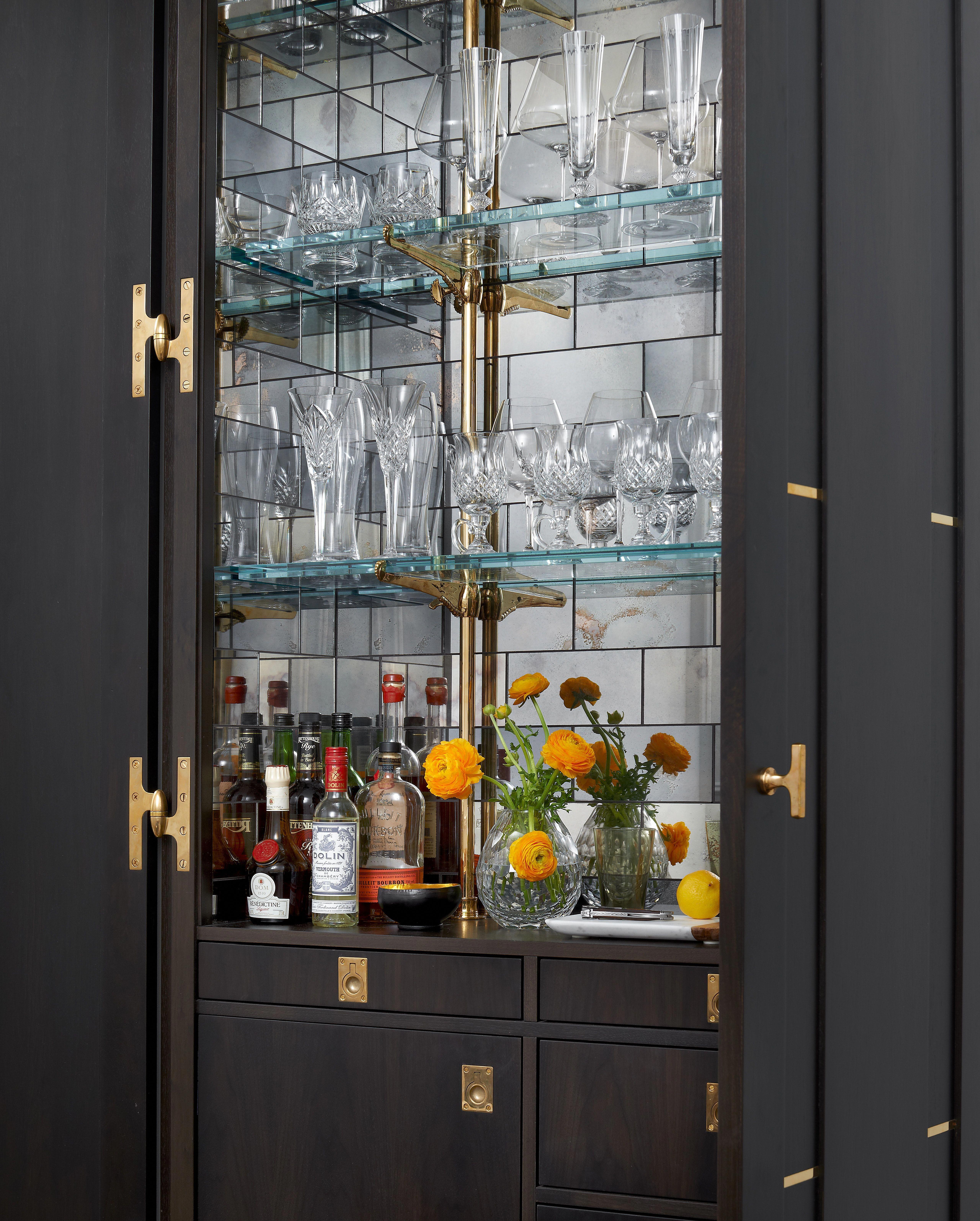 Chicago kitchen glassshelvesmirror glass shelves mirror in
