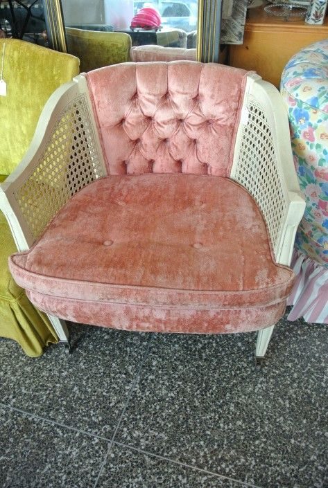 Pink Camelback Chair 135 From Miss Pixies Of 14th Street Washington Dc Attic Camelback Chair Chair Vintage Furniture
