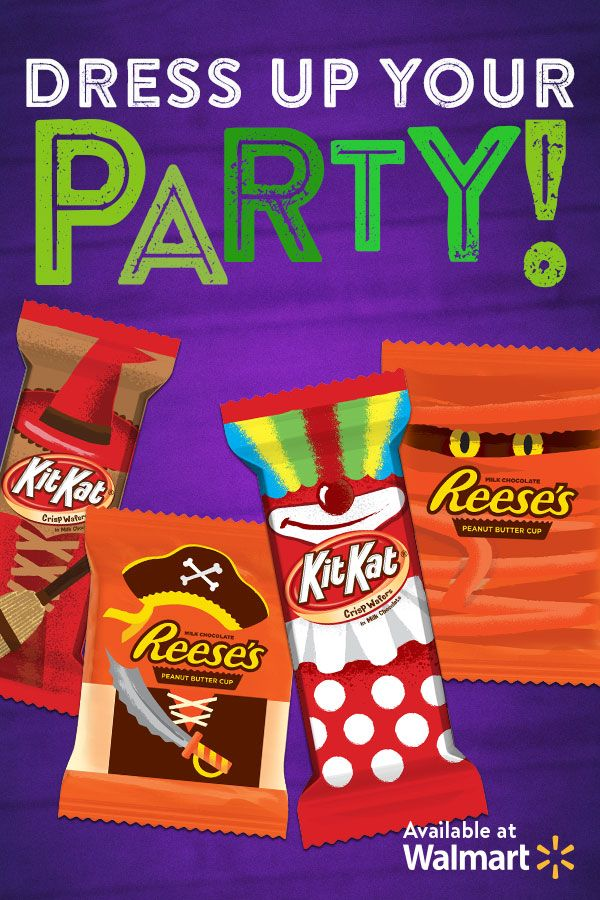 Hershey has the best-dressed candies! Make sure your guests and