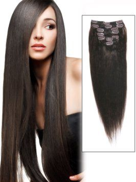 Hair extensions cheap 29 hair hairstyles wigs weave hair abhair cheap real long clip in remy human hair extensions 18 inch dark brown 7 piece yaki dark brown for women beauty pmusecretfo Images