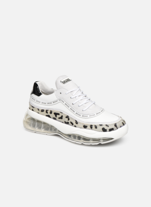 cd721a25fb4 Baskets Bronx 66260 Blanc #baskets#sneakers #leopard#whitesneakers#basketsblanches
