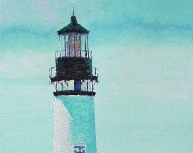 Yaquina Head Lighthouse Oil on Canvas Painting