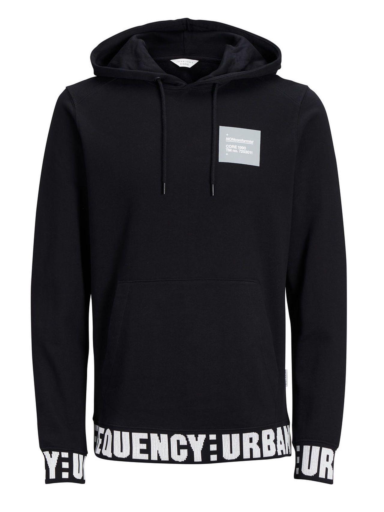 949c8a6dfa5640  JackJones  JACKJONES  Bekleidung  Herren  Sale  Shirts  Sweatshirts  JACK   JONES  Print  Sweatshirt  Herren  Schwarz  5713720917248  mode  ootd   outfit ...