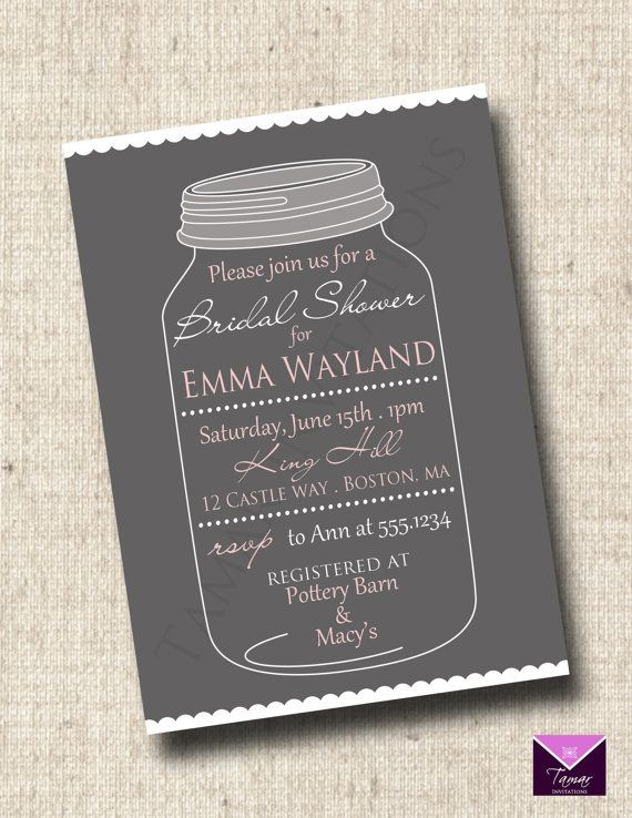 Printable Bridal or Baby Shower Invitation  by TamarInvitations, $12.50