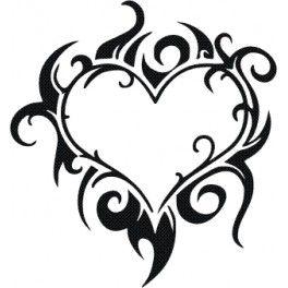 Aufkleber Herz 8