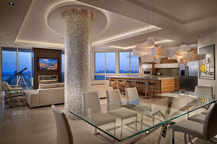 Breathtaking penthouse by Pepe Calderin Design with unbelievable ...
