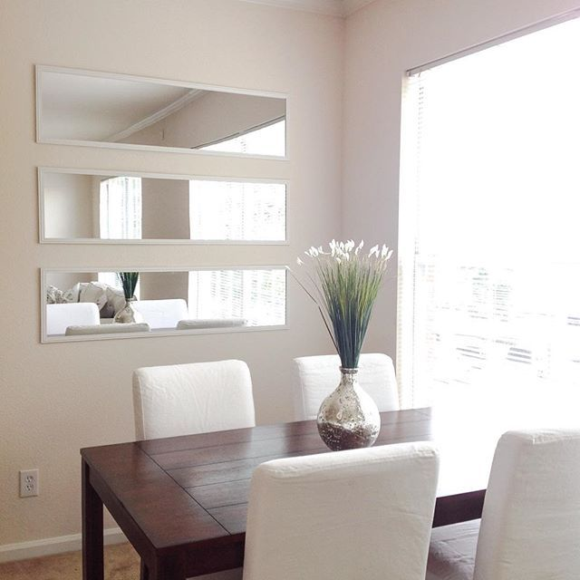 Frugal Living Means Knowing What To Buy And How To Live Efficiently Mirror Dining Room Dining Room Wall Decor Modern Dining Room