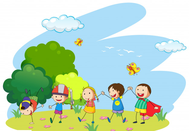 Children Love Going Outside With Peers And This Can Be An Exciting Activity To Help Them Develop The Kids Playing Drawing For Kids International Children S Day