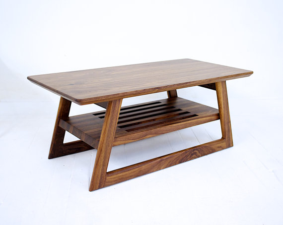 Mid Century Coffee Table Coffee Table Walnut Furniture