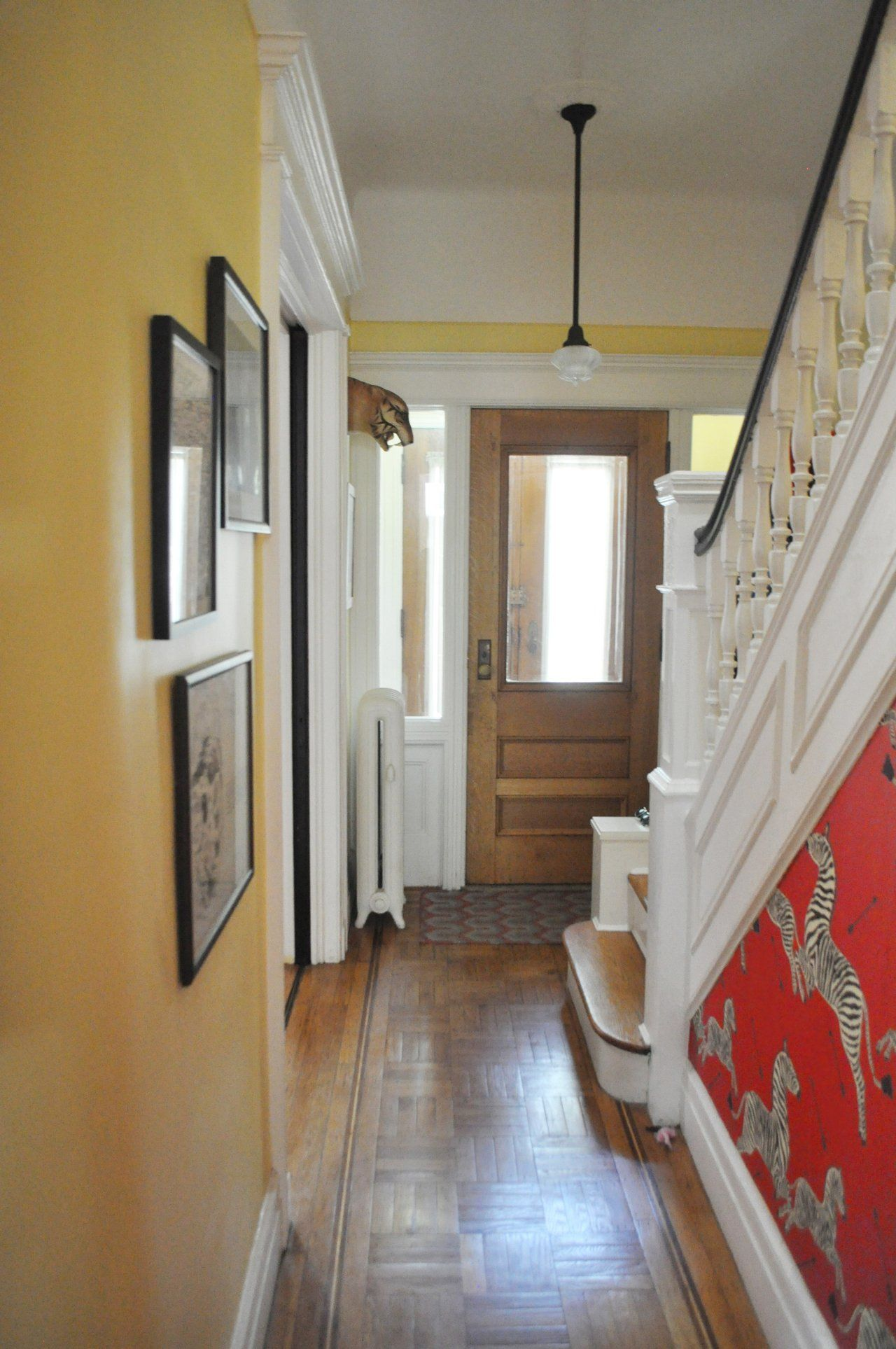 Emma  amp mike  whimsical home in brooklyn love the zebra wallpaper limestone house also best houses interiors design style images cottage homes rh pinterest