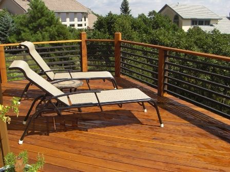 Best Horizontal Metal Rail For Deck Outdoor Decor Backyard 400 x 300