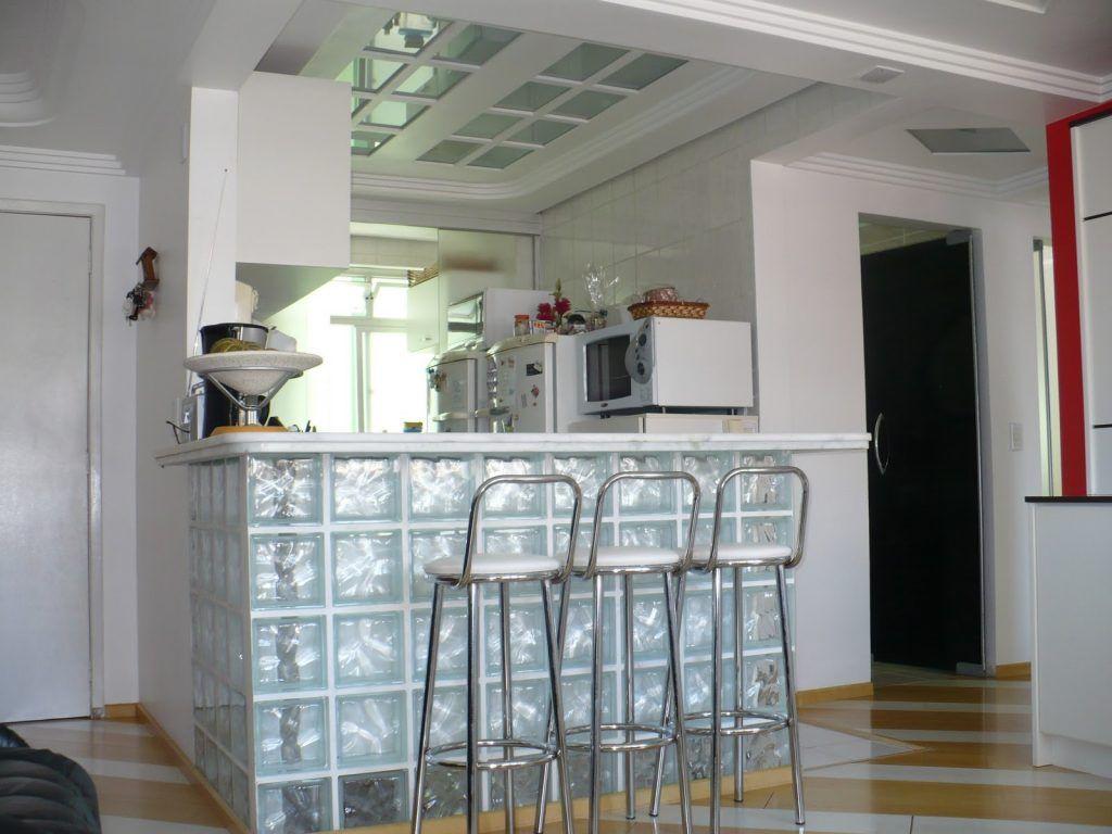 Tijolo De Vidro Cozinha Americana Com Imagens Bloco De Vidro