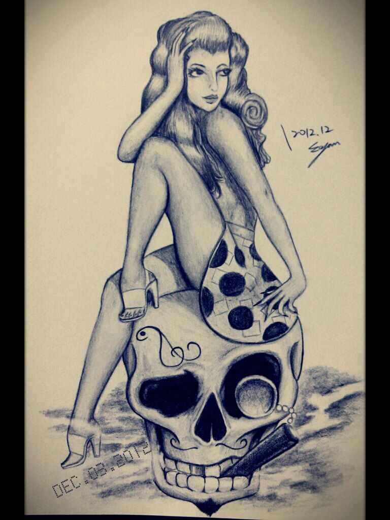 Tattoo pin up girls designs - Pin Up Girls Paintings Pin Up Girl By Eason41 On Deviantart Girl Drawingstattoo