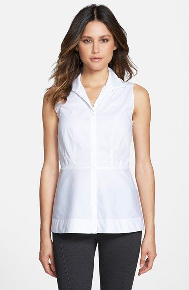 Lafayette 148 New York 'Lanore' Sleeveless Peplum Blouse available at #Nordstrom