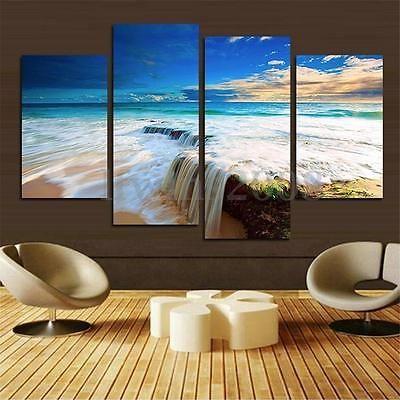 Charming Ozean Leinwandbild Bilder Wand Malerei Ornament Wanddekoration Gemälde  Dekor Neu