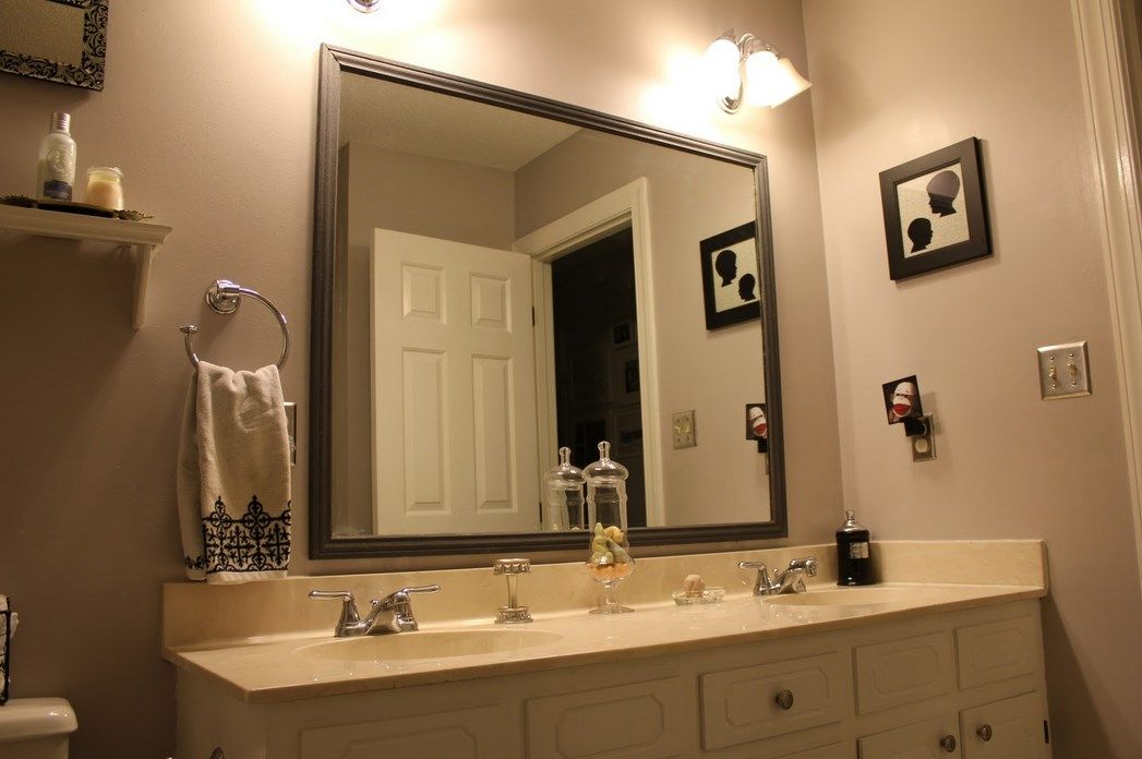 large framed bathroom mirrors with decor and custom on custom bathroom vanity mirrors id=28281