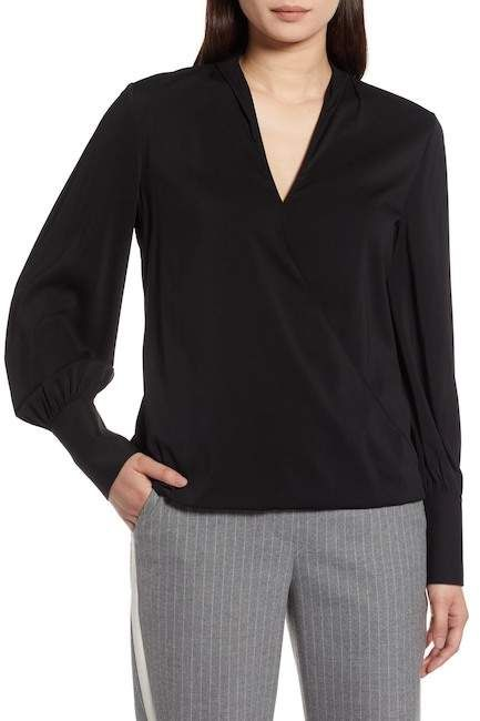 748a6201259 Halogen(R) Silk Blend Wrap Blouse (Regular & Petite) | Products ...