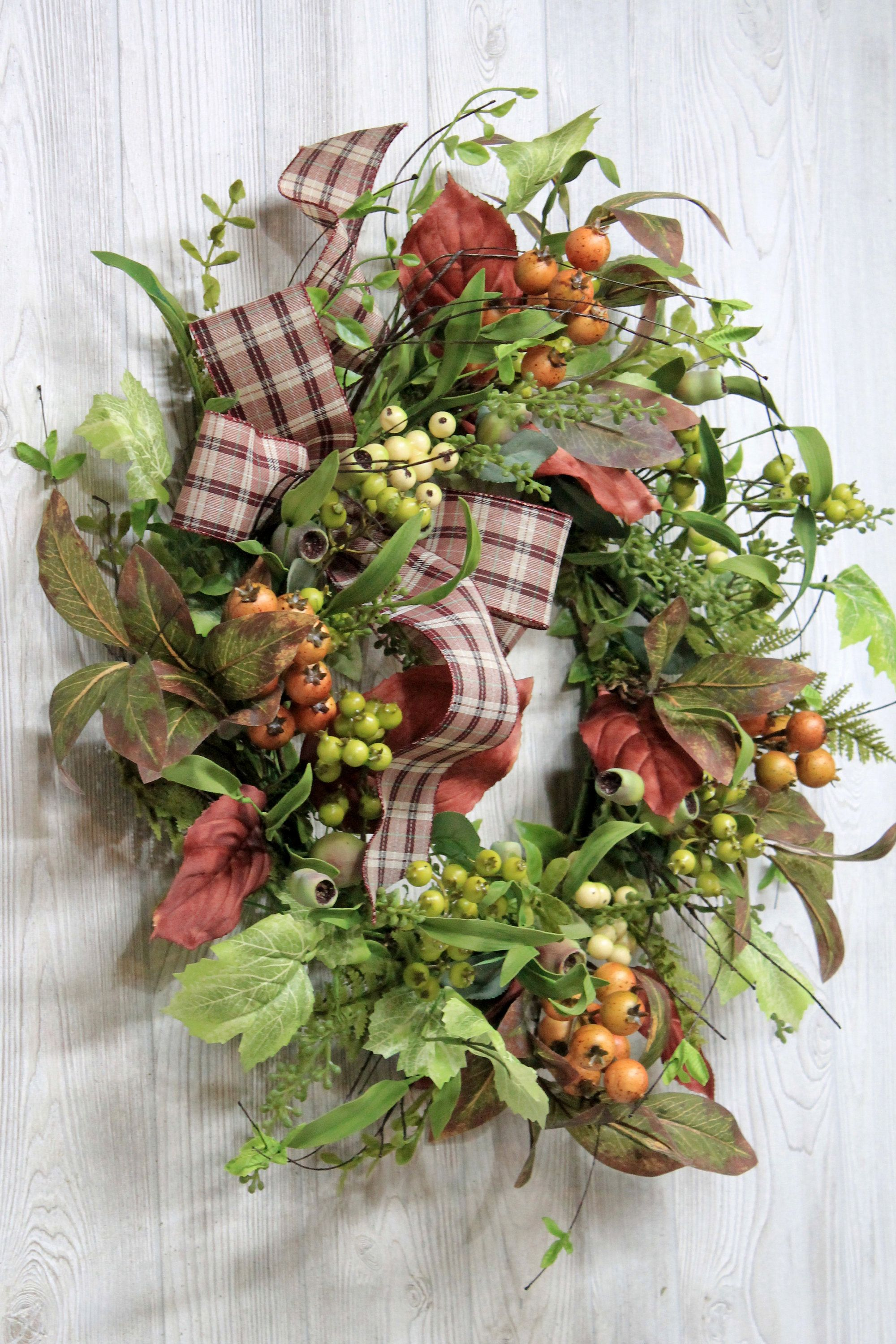 Fall Wreath With Berries, Autumn Wreath, Fall Wreath For Front