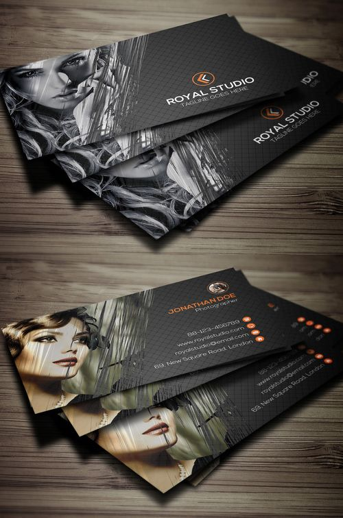 Photography Business Card Design 3 Cartes De Correspondance Modele Carte Visite Postale