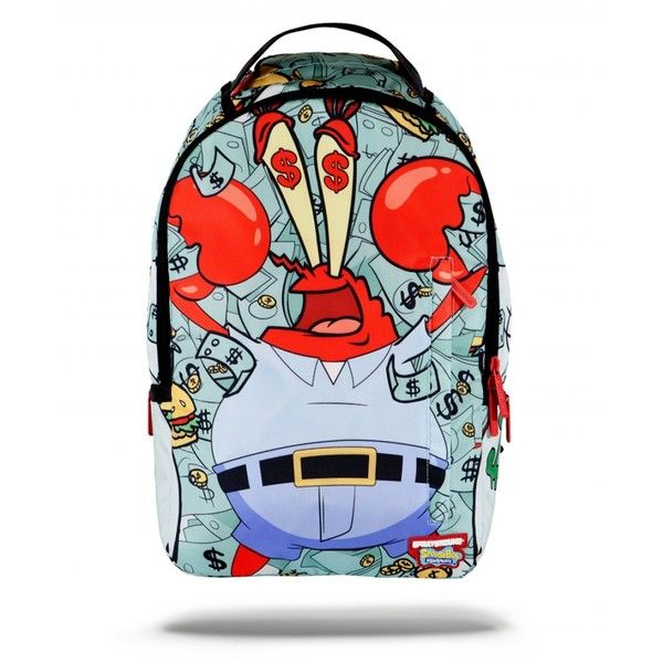Sprayground x Money Crabs Backpack | Sprayground Backpacks, Bags, and... ($80) ❤ liked on Polyvore featuring bags, backpacks, knapsack bag, blue bag, backpack bags, blue backpack and day pack backpack