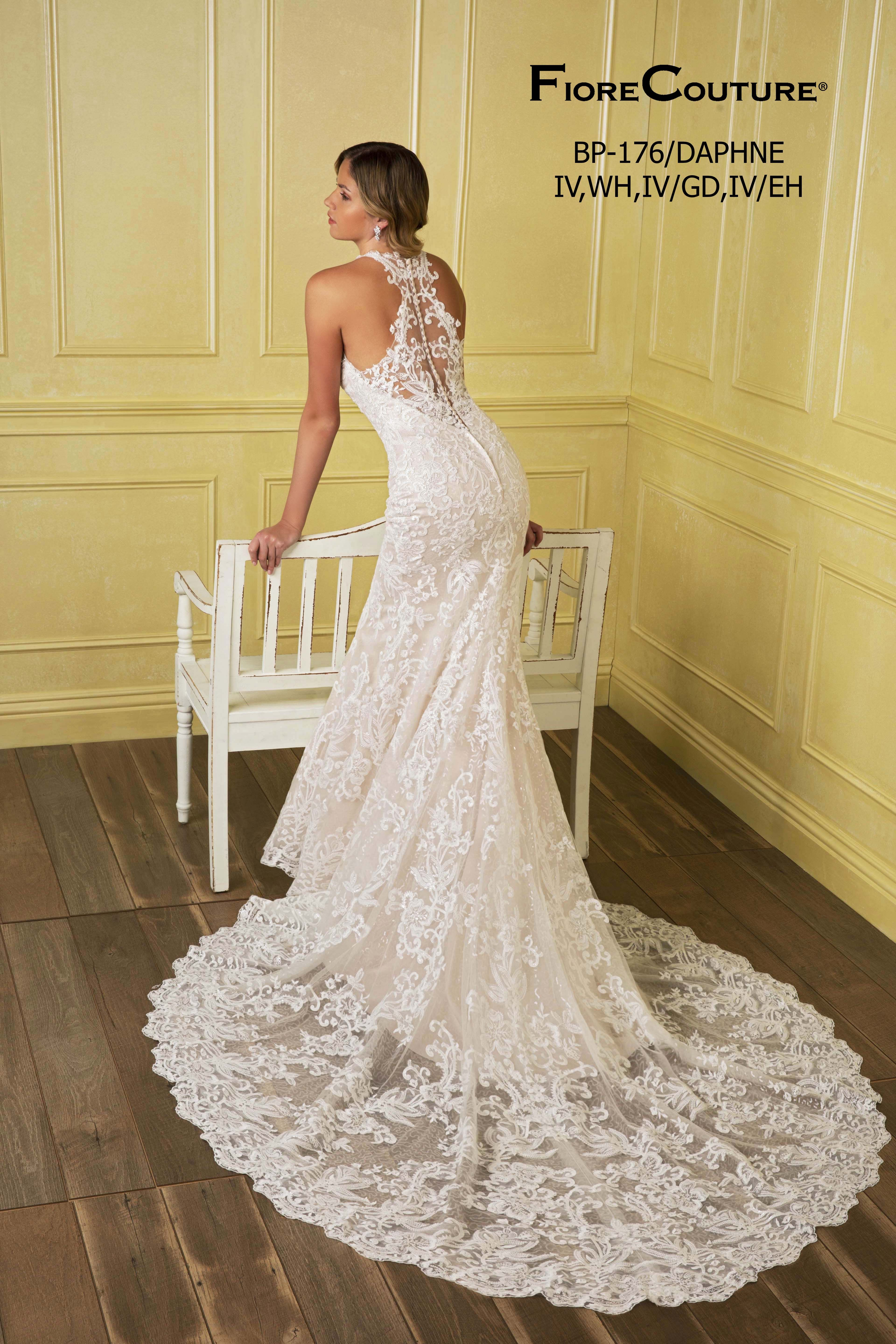 Daphne from fiore couture wedding dress train debutante