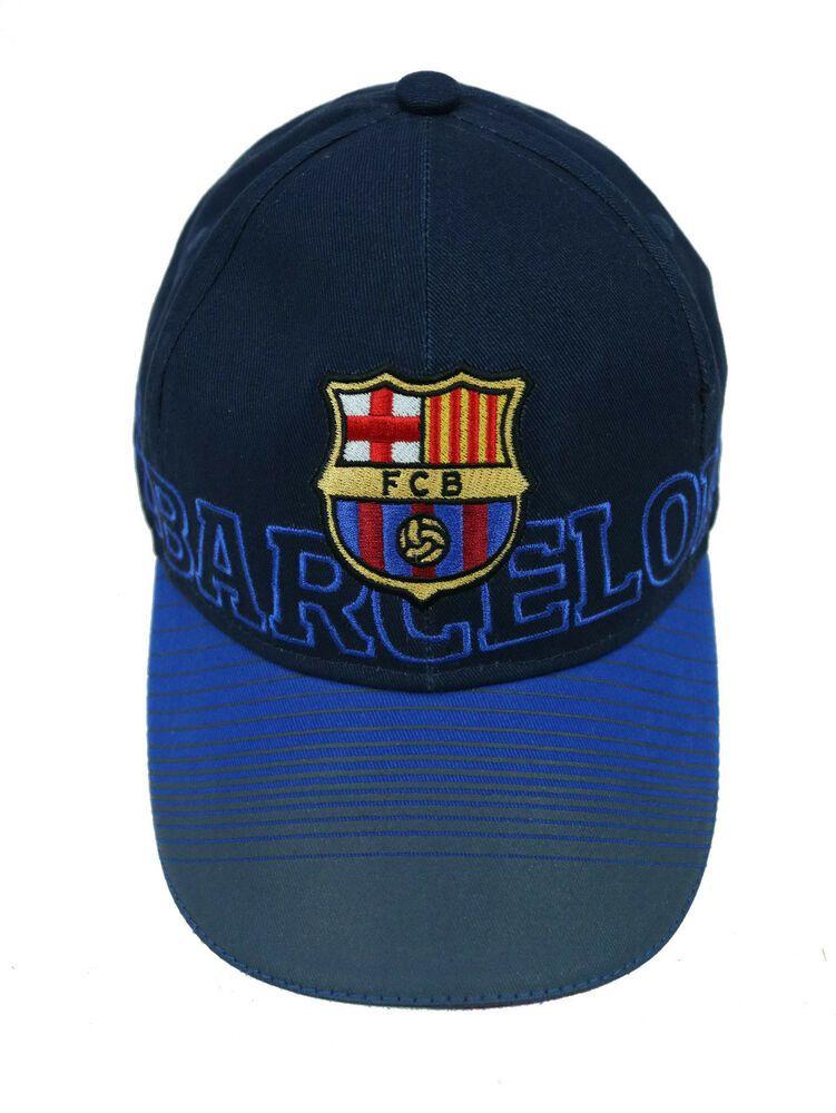 2970ac31428 FC Barcelona Adjustable Unisex Hat Soccer Barca Spain FCB Original  Authentic Cap  FCB  FCBarcelona