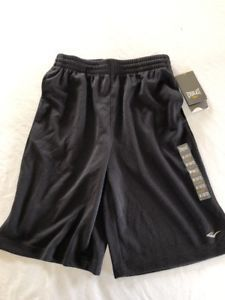 5215a93e7d42 New Everlast Boys Athletic Shorts Onyx Black Size Med 10 12 ...