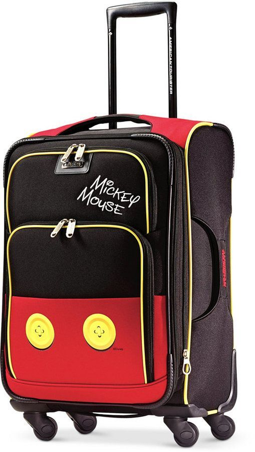 """Disney Mickey Mouse Pants 21"""" Spinner Suitcase by American Tourister"""