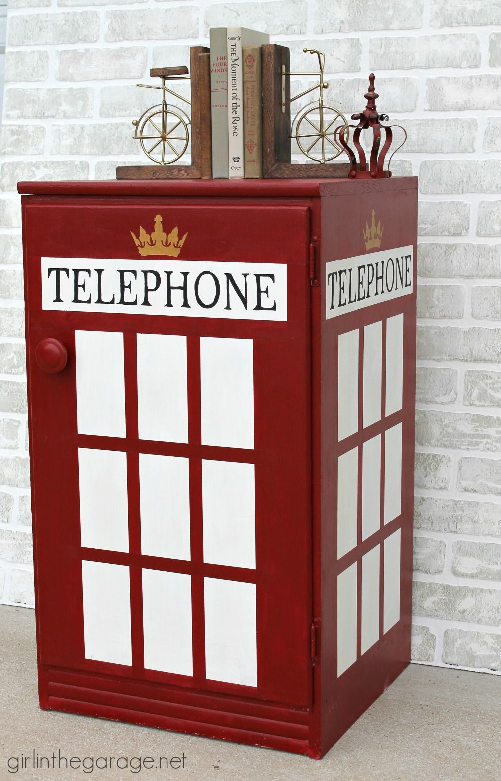 DIY London Telephone Booth Cabinet   Girl In The Garage