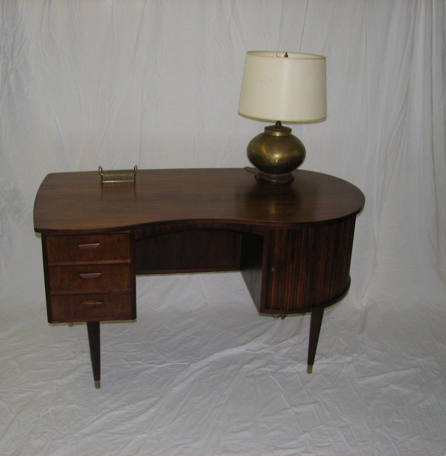Mid Century Modern 1954 Danish Double Side Desk Designed By G