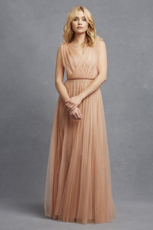 a24bedfe7a53 Donna Morgan Emmy dress    Long tulle bridesmaid dress    Donna Morgan  Serenity collection