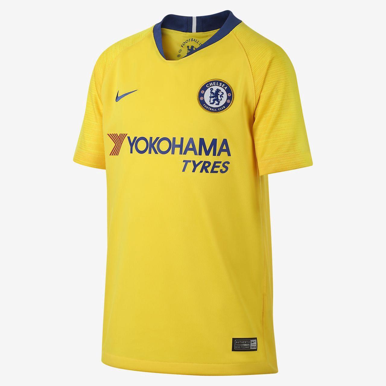 Nike 2018 19 Chelsea Fc Stadium Away Big Kids  Soccer Jersey - M (10-12)  Blue 98d6ddcdd