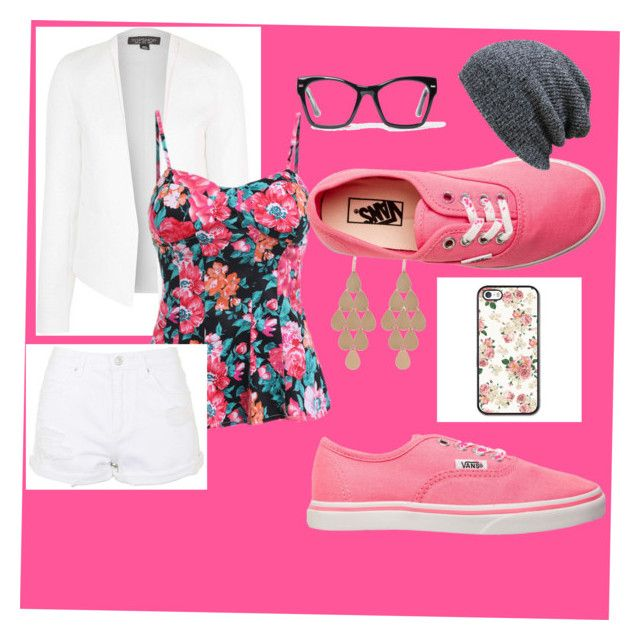 """Pink"" by charity-kayembe on Polyvore featuring Topshop, Spitfire, Irene Neuwirth and Vans"