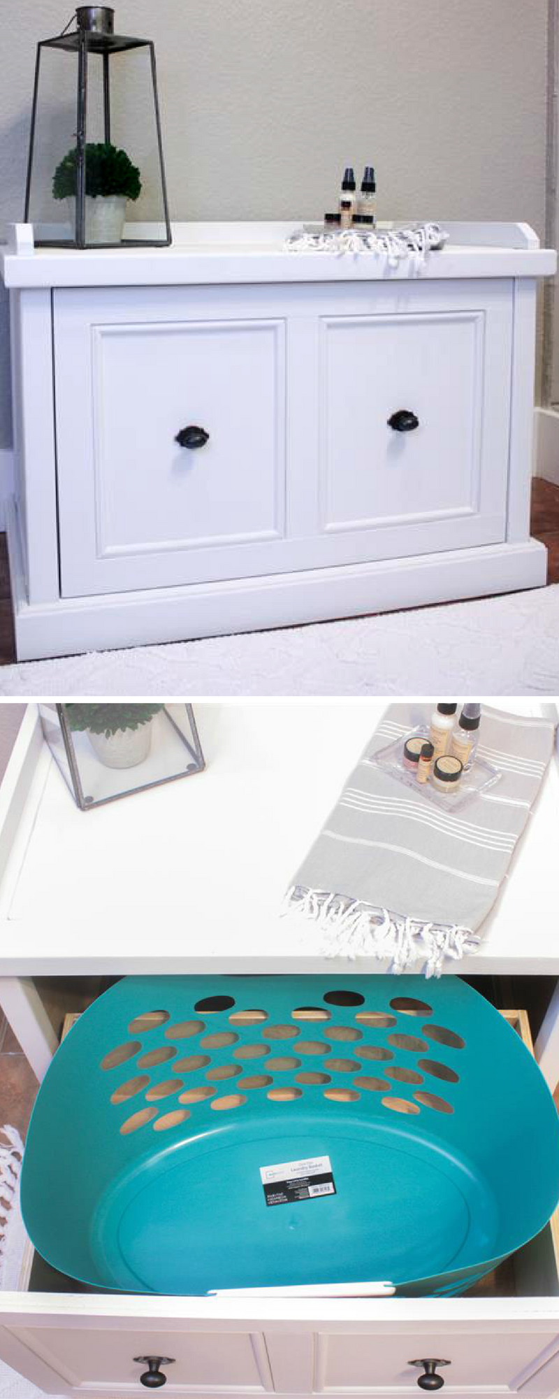 How To Build A Diy Laundry Hamper Bench Free Printable Project