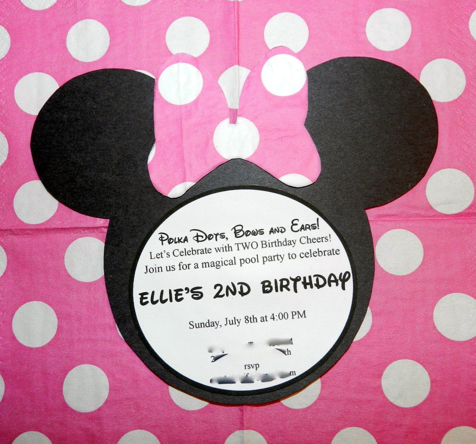 Mickey Mouse - Minnie Mouse - DIY birthday party invitations ideas ...
