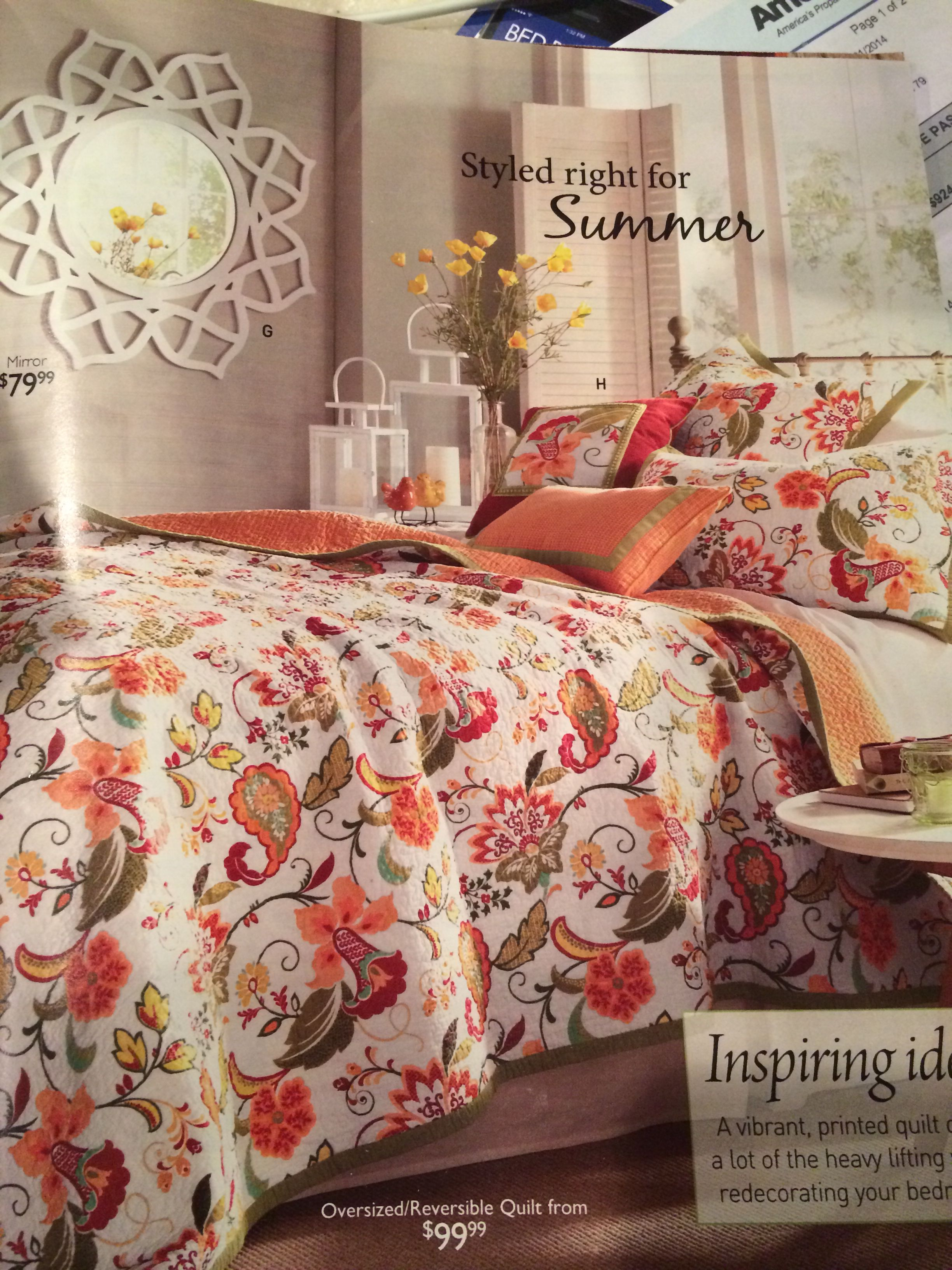 Multi Color Bed Quilt From Through The Country Door Catalog